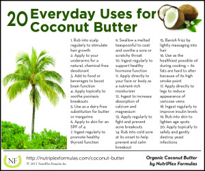 coconut butter infographic